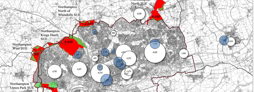 Health capacity mapping showing the impact of housing in Northampton