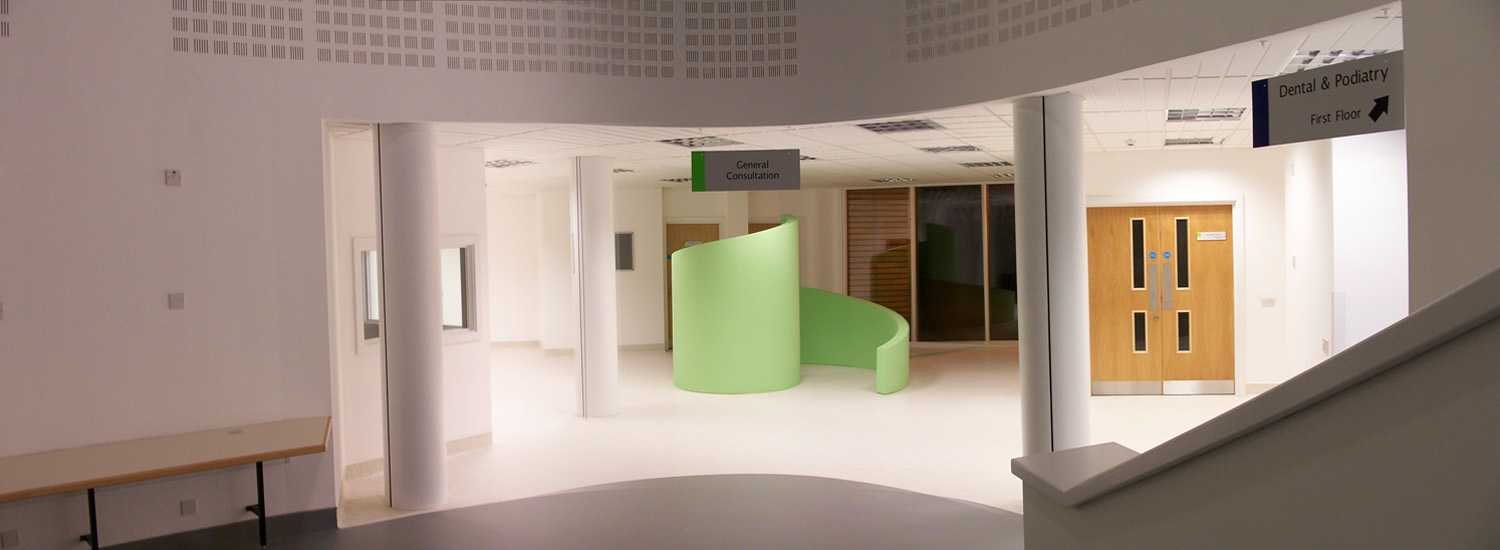 Interior photograph of the Thetford Polyclinic